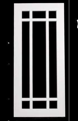 9 Lite Offset Glass Door
