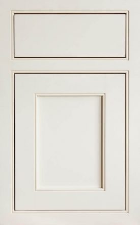 Beaded inset cabinet door and drawer