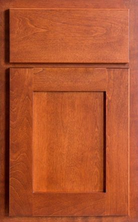 Partial overlay cabinet door and drawer