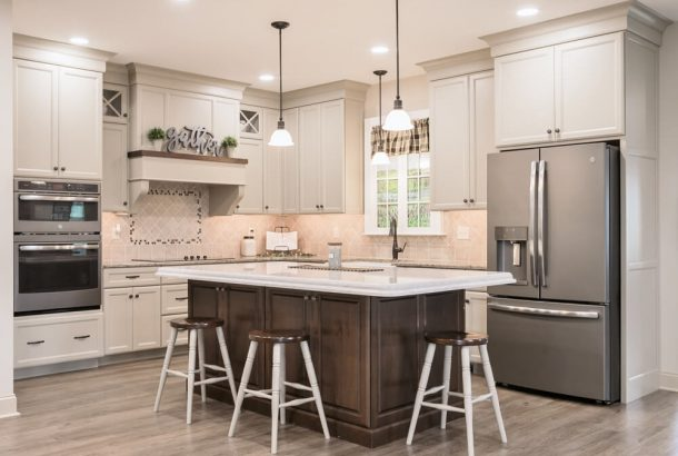 Kitchen in the showroom